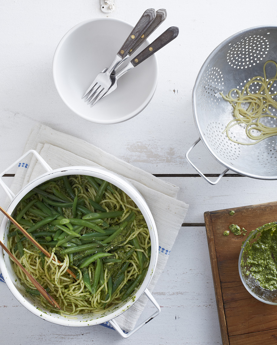 Pasta_Spinach_Pesto_Green_Beans
